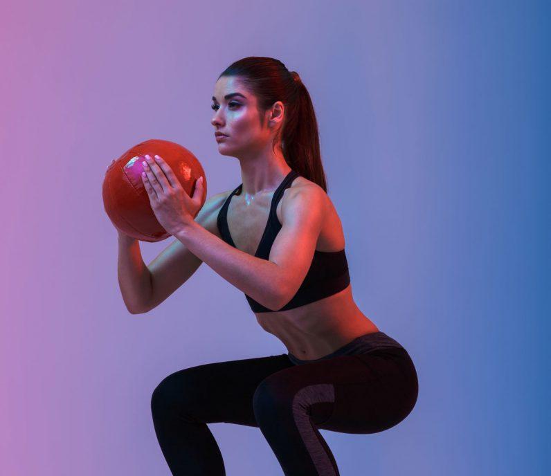 Equilibrium Gym & Fitness Goblet Squat Portrait
